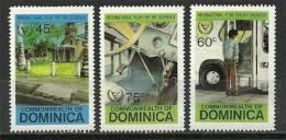 ILE De La DOMINIQUE (Caraïbes)  Année Des Handicapés   .  3 T-p Neufs ** - Handicaps