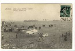 Carte Postale Ancienne Angers - Grand Meeting D'Aviation. Dickson En Plein Vol - Avions - Angers