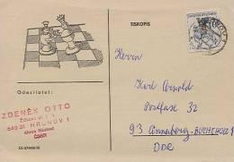 Schaken - Schach - Chess :  Tjechie / Ceskoslovensko  / CSSR ( 2 X Scan) - Schaken