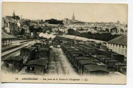 Angouléme  PRIDSE DE LA PASSERELLE CHAIGNAUD   UNE PARTIE DE LA GARE - Angouleme