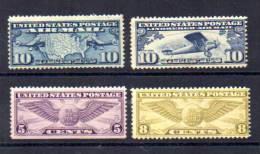 1927 + Lignes Aérienne, Insigne De Pilote, PA 7-10-13-16*,  Cote 39 €, - Air Mail