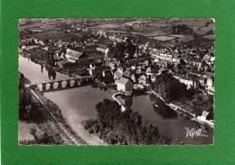 72 LA SUZE : Vue Aérienne    Le Pont Routier Et Le Barrage  Ensemble De La Ville  CPSM  Année 1953 - La Suze Sur Sarthe