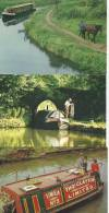England - Canal Boats End Locks  # 778 # - 5 - 99 Postcards