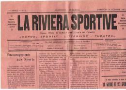 JOURNAL LA RIVIERA SPORTIVE CERNE ATHLETIQUE DE CANNES   DIMANCHE  31 OCTOBRE 1915 - Leichtathletik