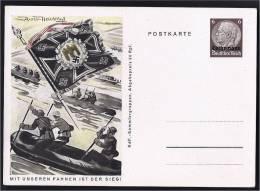 OCCUPATION ALLEMANDE LOTHRINGEN SS ENTIER GANZSACHE STATIONERY DEUTSCHES REICH - Guerre 1939-45