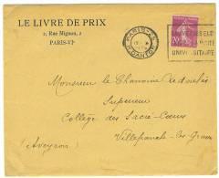 """VEND ENVELOPPE """"LE LIVRE DE PRIX """" , 1935 , PARIS VI° !!!! - Imprimerie & Papeterie"""