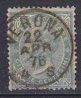 ## Italy 1864 Mi. 19     30 C König Viktor Emanuel II. Deluxe VERONA Cancel (2 Scans) - Usati