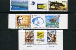 NOUVELLE CALEDONIE 3 Triptyques Neufs Xx Avec Vignette N°YT 776-777 PA 333A 339A - New Caledonia