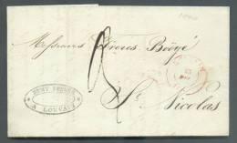 LAC De LOKEREN Le 23 Décembre 1840 Vers Saint-Nicolas.  Expéditeur REMY Frères à LOUVAIN. - 8177 - 1830-1849 (Belgique Indépendante)
