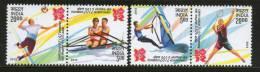 India 2012 London Olympic Games Badminton Sailing Rowing Handball Sport Se-tenant 4v MNH - Summer 2012: London