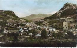 CPSM SALINS LES BAINS (Jura) - Vue Générale Fort Saint André Et Fort Belin Au Fond Le Mont Poupet - France