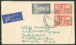 Lettre Par Avion De LAMBTON Le 17-4-1947 Vers New York - 8199 - 1907-1947 Dominion