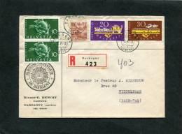 Suisse Registered  Letter 1949 - Oblitérés