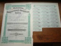TUILERIES &  BRIQUETERIES MODERNES DE BOOM N° 1746 ( Voir Photo Pour Detail )! - Actions & Titres