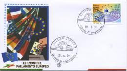 ITALIA - FDC  FILAGRANO 1999 - PARLAMENTO EUROPEO - ANNULLO SPECIALE - 6. 1946-.. Republik