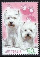 Australia 2004 Cats & Dogs 50c Bridle & Lily Terriers Used  SG 2442 - Used Stamps