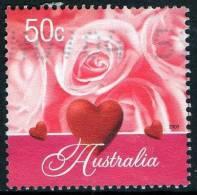 Australia 2003 Greetings 50c Hearts & Pink Roses Used - 2000-09 Elizabeth II