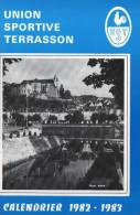 REVUES DE 48 PAGES  UNION SPORTIVE TERRASSON CALENDRIER 1982-1983   ..dordogne..21cmPAR15cm - Sport