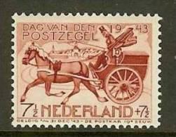 NEDERLAND 1943 Mint Hinged Stamp(s) Postal Coach 422  #64 - Period 1891-1948 (Wilhelmina)