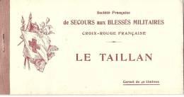 Erinnophilie  RARISSIME 9 Carnets Complets Connus - Secours Aux Blessés Militaires Croix Rouge  LE TAILLAN  40 Timbres - Commemorative Labels