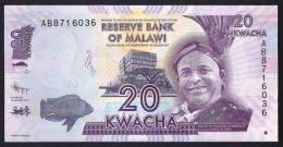 MALAWI  : Banconota 20  Kwacha - 2012 - FDS - Malawi