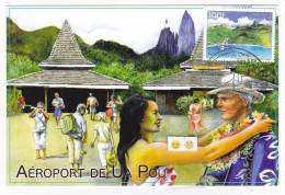 Polynésie Française / Tahiti - Carte Postale 1° Jour 2012  - Ua Pou - Neuve - Polinesia Francesa
