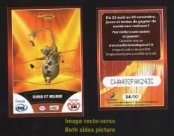 Carte à Collectionner Autocollant Le Collector 2012 CORA GLORIA ET MELMAN Madagascar 3 N° 34 / 90 Codée - Adesivi