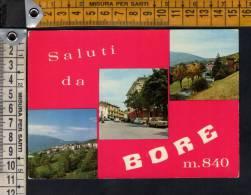 D490 Saluti Da Bore (Parma) - Gruss Aus, Greetings - Auto, Cars, Voitures  - Annullo/timbro Varano / Viaggiata 1974 - Altre Città