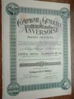 COMPAGNIE GENERALE ANVERSOISE N° 39705 ( Voir Photo Pour Detail )! - Actions & Titres