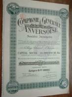 COMPAGNIE GENERALE ANVERSOISE N° 39704 ( Voir Photo Pour Detail )! - Actions & Titres
