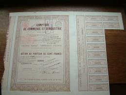 COMPTOIR DE COMMERCE ET D'INDUSTRIE N° 02941 ( Voir Photo Pour Detail )! - Actions & Titres