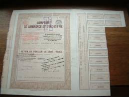 COMPTOIR DE COMMERCE ET D´INDUSTRIE N° 05411 ( Voir Photo Pour Detail )! - A - C