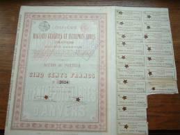 COMPAGNIE DES MAGASINS GENERAUX ET ENTREPOTS LIBRES D'ANVERS N° 2624 ( Voir Photo Pour Detail )! - A - C