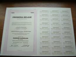 FROBERA BELGIE N.V. N° 00189001 Tot 00190000 ( Voir Photo Pour Detail )! - Actions & Titres