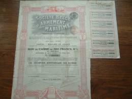 SOCIETE BELGE D'ARMEMENT MARITIME N° 32354 ( Voir Photo Pour Detail )! - Actions & Titres