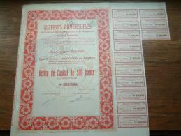 RIZERIES ANVERSOISES ( Anc. MERLENIER & TASSOUL ) + Certificaat N° 011294 ( Voir Photo Pour Detail )! - Actions & Titres