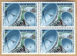 Bloc De 4 Timbres 1971 N° 1580 - Lessive, Station Terrestre De Télécommunication - België