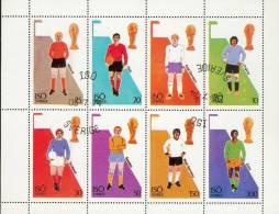 Suéde 1974 - Bloc Feuillet De 8 Valeurs Oblitérés - Coupe Du Monde De Football - 1974 – Allemagne Fédérale