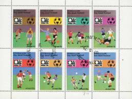 Eynhallow Scotland - Coupe Du Monde De Football  1974 -  Bloc Feuillet De 8 Timbres Oblitérés - Local Issues