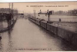 Choisy-le-Roi..animée..In Ondations Janvier 1910..la Gare..train..le Rapide De Limoges Passe En Gare - Choisy Le Roi