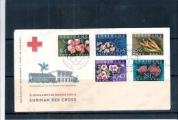 FDC Suriname - Fleurs + Croix-Rouge (à Voir) - Other