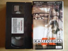 KALIFORNIA   - VHS CASSETTE  FILM AVEC BRAD PITT - Horror