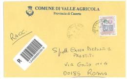 VALLE AGRICOLA  81010   PROV. CASERTA  - ANNO 2005 - R  - STORIA POSTALE DEI COMUNI D´ITALIA - POSTAL HISTORY - Affrancature Meccaniche Rosse (EMA)