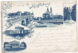 CPA GRUSS AUS MAGDEBURG - ILLUSTREE - Magdeburg