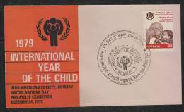 INDIA 1979International Year Of The Child  BOMBAY Special Cover #  42729  Indien Inde - Childhood & Youth