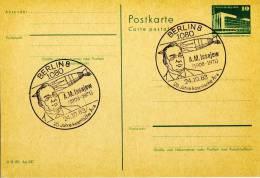 Entiers Postaux 1983 # DDR # CACHET: BERLIN   A. M. ISSAJEW - Postales - Usados