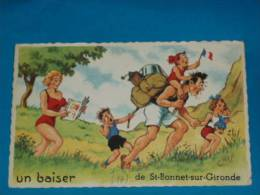 17) Un Baiser De St-bonnet-sur-gironde - N° 1014 - Dessin De CHAP - Année 1961 - EDIT- Picard - Autres Communes