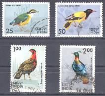 India 1975 Birds Set Of 4 Used  SG 763-766 - India