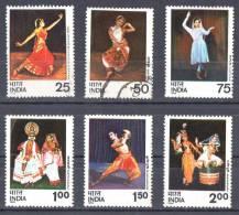 India 1975 Dances Set Of 6 Used  SG 779-784 - India
