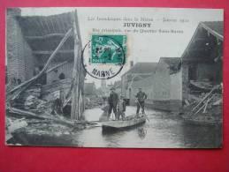 51. JUVIGNY - Les Inondations Dans La Marne - Rue Principale Vue Du Quartier St Martin - Non Classés